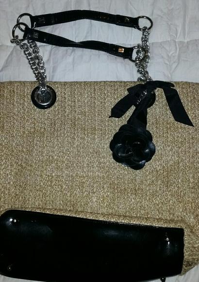 Sarah Violet Handbags - Sarah Violet Woven Black Patent Handbag